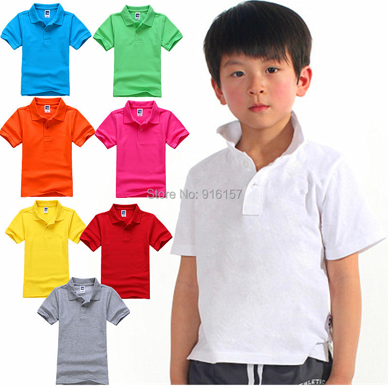 POLO shirt for boys girls Cotton shirts for 2-15years(China (Mainland))