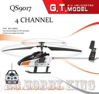 QS9017 Single Blade 38.5cm 3.5Ch QS 9017 rc Helicopter radio remote control rc oys RTF ready to fly Free shipping