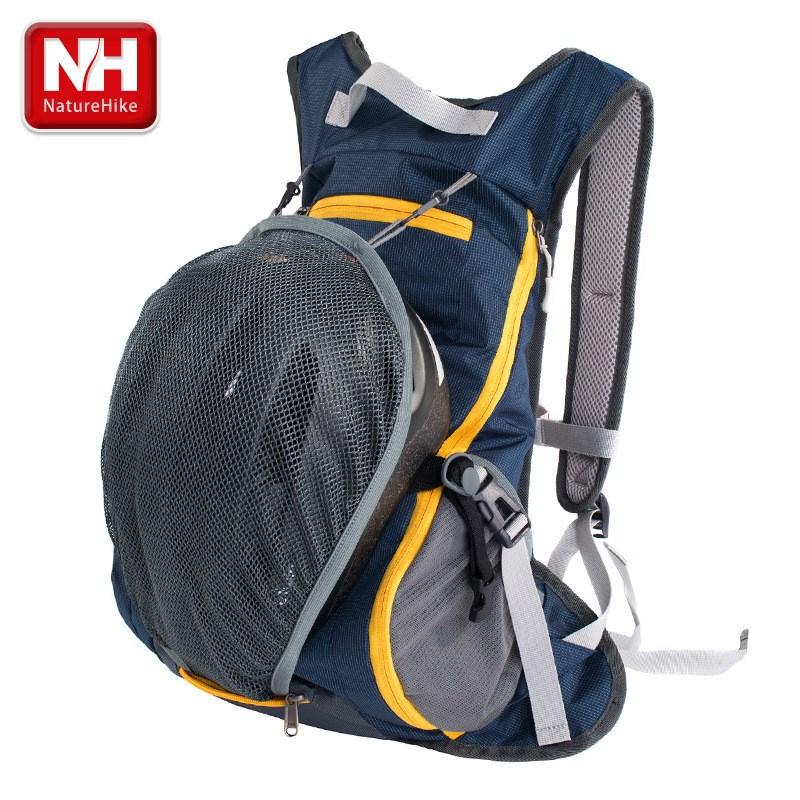 NatureHike 15L Waterproof ultralight Backpack Cycling Bike Rucksack Camping Climbing Hiking travel bag with Helmet net cover