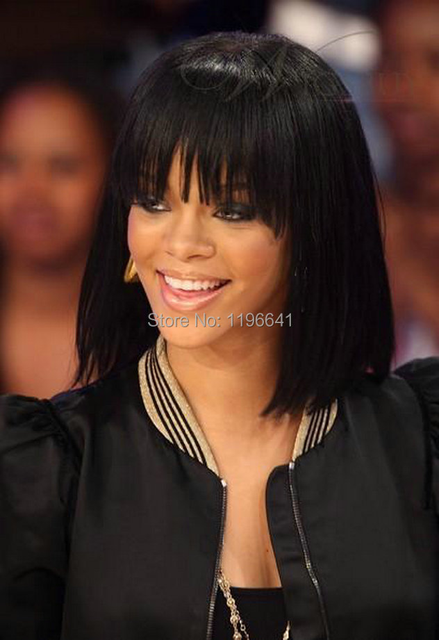 Enjoyable Hair Wigs In India Picture More Detailed Picture About Rihanna Short Hairstyles For Black Women Fulllsitofus