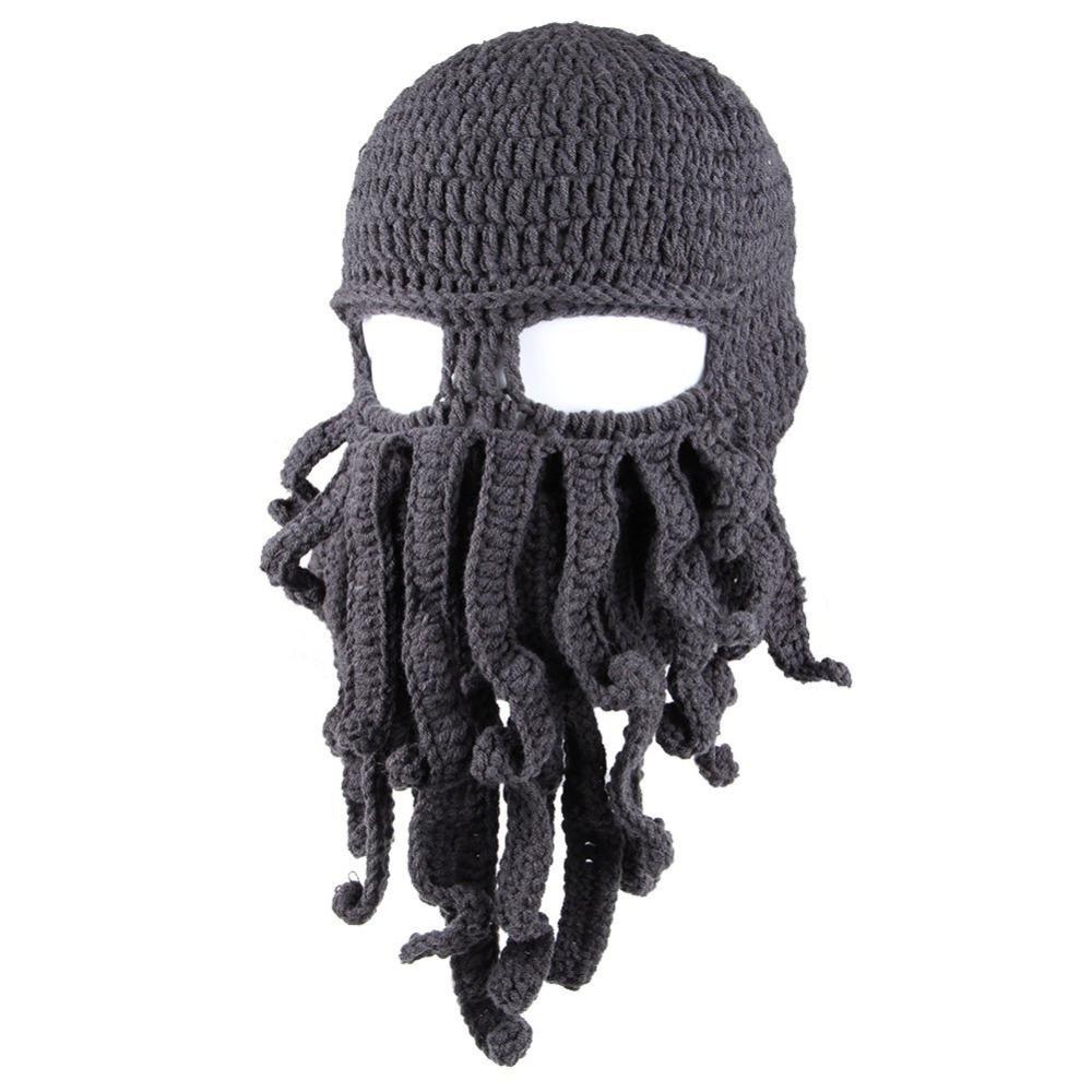 Knitting Pattern Octopus Hat : New Fashion Novelty Unisex Tentacle Octopus Masked Beanies Cthulhu Wind Ski M...