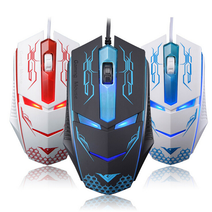New Brand Wired Opitical 4000 fps 1600DPI 3Keys USB Game Gameing Mouse Terminator Mice For Computer PC Laptop Tab Gamers(China (Mainland))