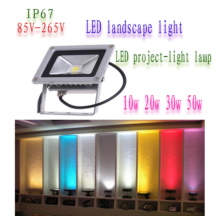 2015 NEW 85-265V 10W Landscape Waterproof LED Flood Light Floodlight LED street Lamp white Or Warm white Lighting Outdoor Lamp(China (Mainland))