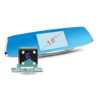 New Novatek 1080P Car Blue Rearview Mirror Camera Dvr Full HD Digital Video Recorder With Two Cameras Auto Dash Cam Black Box(China (Mainland))