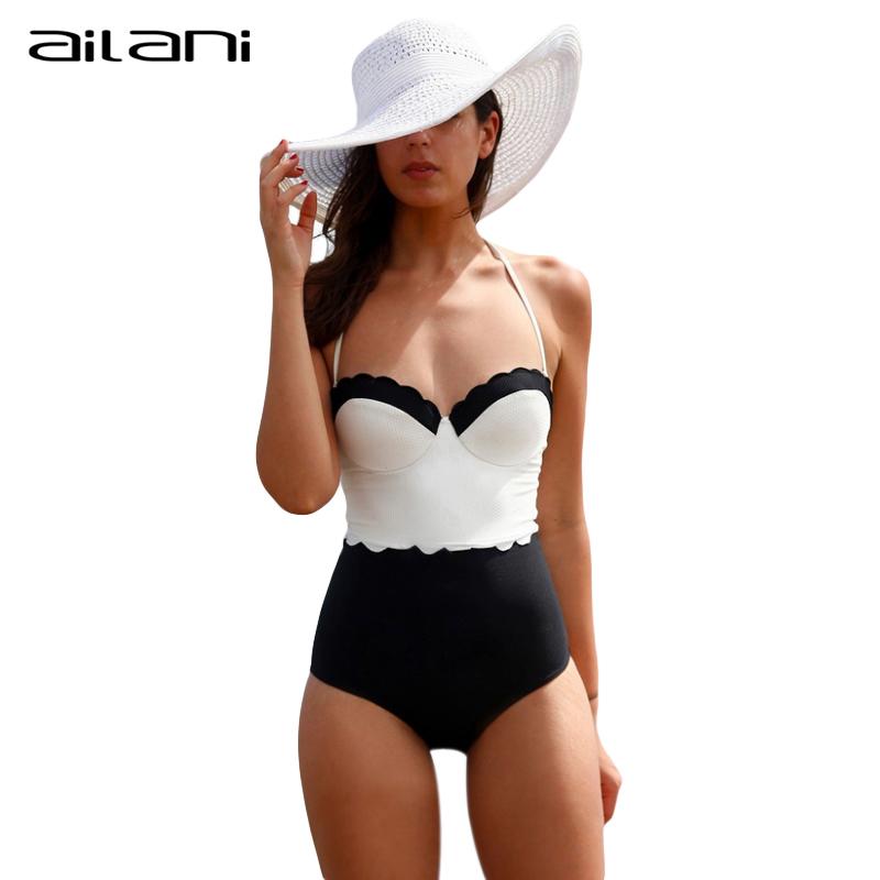S-XL Monokini Women One Piece Swimsuit Fashion Floral Push Up Bathing Suit Black And White Swimwear For Women Beachwear AL090(China (Mainland))