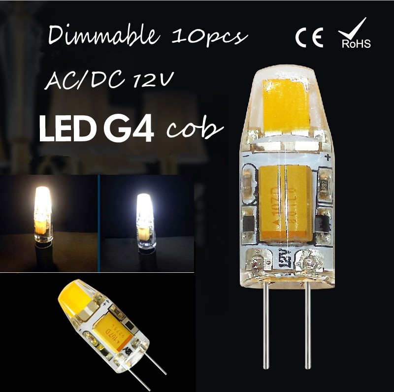 10pcs Dimmable LED G4 Lamp Bulb COB SMD AC /DC 12V 3W 6W LED Lighting Lights replace Halogen G4 for Spotlight Chandelier(China (Mainland))