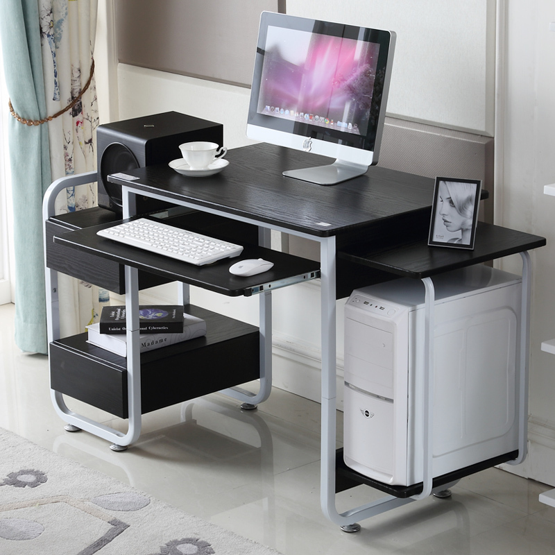 The holy crown simple desktop computer desk wood office furniture minimalist desk with drawers tables new desk(China (Mainland))