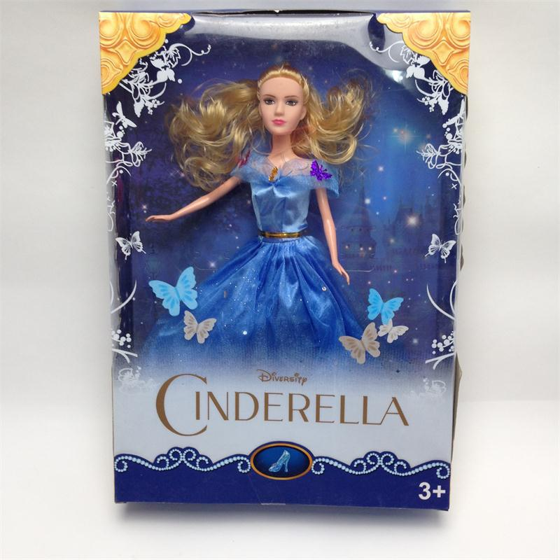 2015 hot sale 1 piece cinderella toys holiday gift set baby toys the most popular princess cinderella doll(China (Mainland))