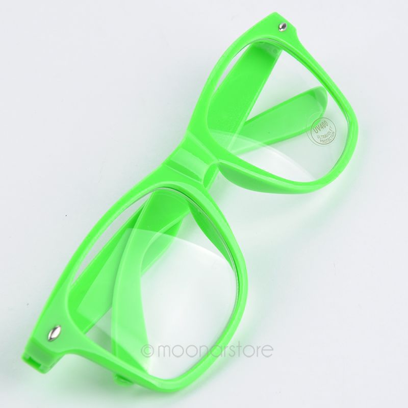 Fashion Summer Style Candy Color Glasses Unisex Clear Lens Wayfarer Nerd Geek Glasses Men Women Eyewear