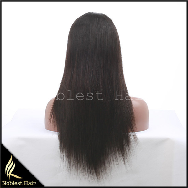 Free Shipping Brazilian Virgin Hair Natural Color 12-24 Inch Full Lace Wig With Baby Hair Remy Human Hair Lace Wigs<br><br>Aliexpress