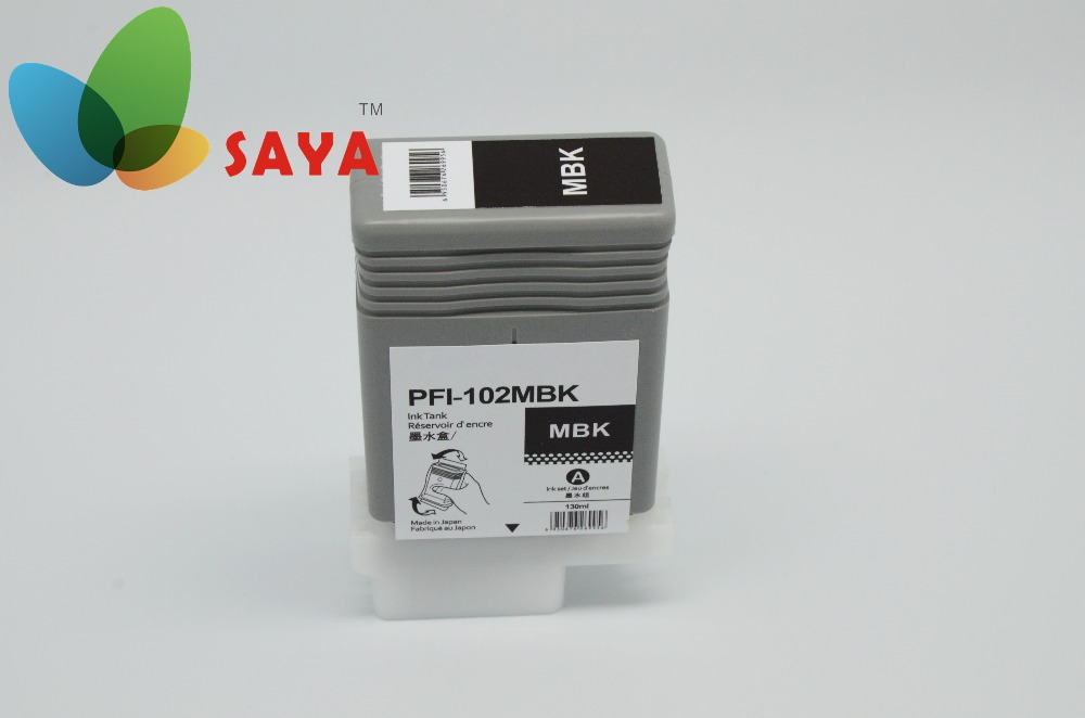 Ipf PFI-102MBK Matte Black Ink Tank 130ML for Canon wide format printer 500 600 700 Models<br><br>Aliexpress