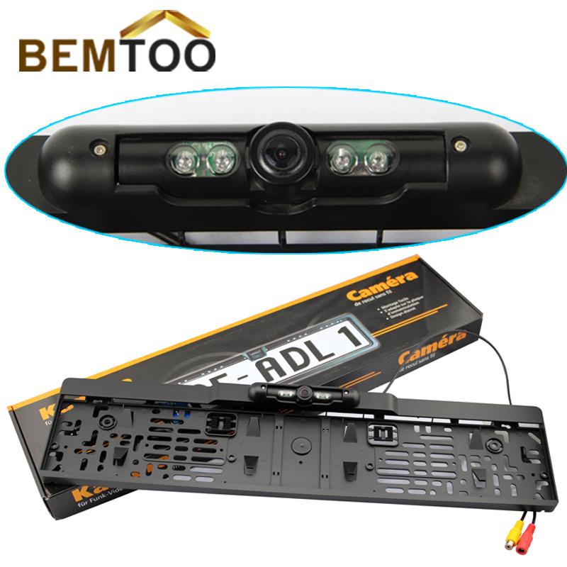 Hot Sell ,IR Night Vision rear view camera European License Plate Backup Parking camera, Free Shipping(China (Mainland))