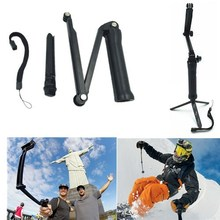 Gopro Accessories 3-way Grip Arm Tripod Monopod 3way Mount For Go pro Hero 4 3 3+ xiaomi xiaoyi sj4000 5000 6000 sports camera