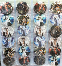 Bleach 5.8 CM 24x per lot set new Cartoon& Animation PIN back BADGES BUTTONS PARTY BAG GIFT CLOTH