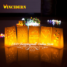 Buy White Paper Candle Bags Luminary Lantern Bag Wedding Birthday Party Decoration 50pcs/lot for $20.18 in AliExpress store