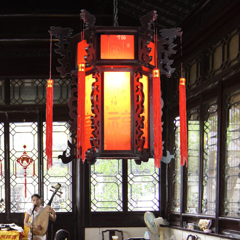 carved chain Picture More Detailed Picture about Wooden carvings – Chinese Lantern Chandelier