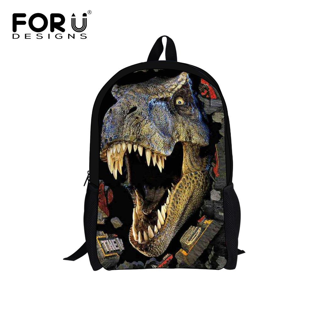 Kids School Backpacks Boys,3D Zoo Animal Printing Backpack,Children Dinosaur Backpack,Student Book Pack Men's Bag - KIDS FOR YOU,CO.,LTD store