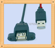 Free Shipping!!!  2pcs USB2.0 enclosure baffle extension cord / tape ears and screw holes / 30cmUSB extension cord(China (Mainland))