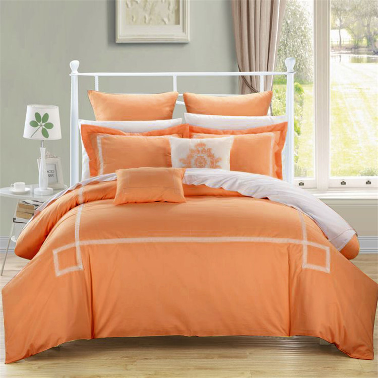 Orange and grey bedding twin bed bedroom designs best for Best color bed sheets