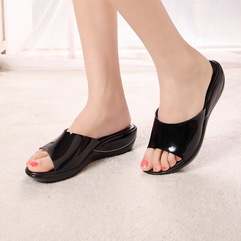 Women's sandals genuine leather casual wedges platform women slides shoes for lady 2016 Summer sandals slippers shoes women(China (Mainland))