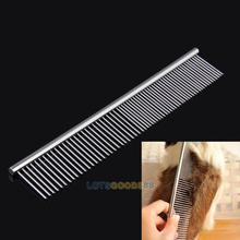 LS4G New  Pet Products Dog Cat Pet Stainless Steel Trimmer Grooming Teeth Comb Brush