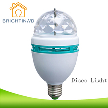 Buy BRIGHTINWD Disco RGB LED Bulbs E27 3W Colorful Auto Rotating Party Lamp KTV Family SHOW Effect Stage Light decora christmas Lamp for $4.18 in AliExpress store