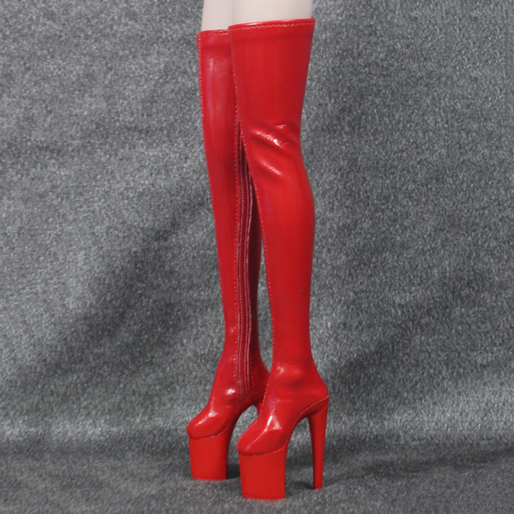 1/6 Women Over The Knee High Heel Boots Shoes for 12inch Action Figures Soldier Accessories