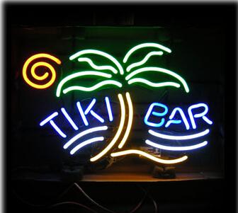 "2015 Hot Neon Sign Commercial Custom LOGO Neon Sign Real Glass Tube Tiki Bar Palm Neon Sign Handicraft Store Display 30*20""(China (Mainland))"