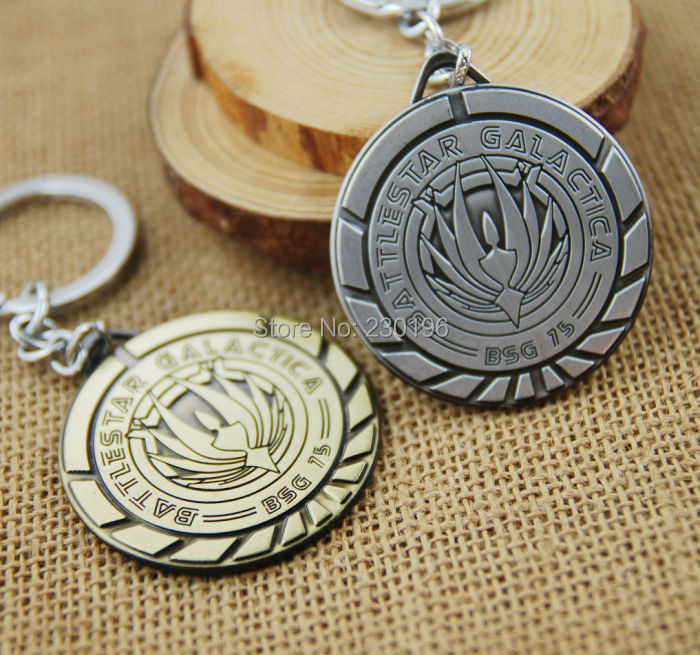 Classic TV Series Battlestar Galactica BSG 75 Symbol Keychains for Fans Metal Pendant Keyring(China (Mainland))