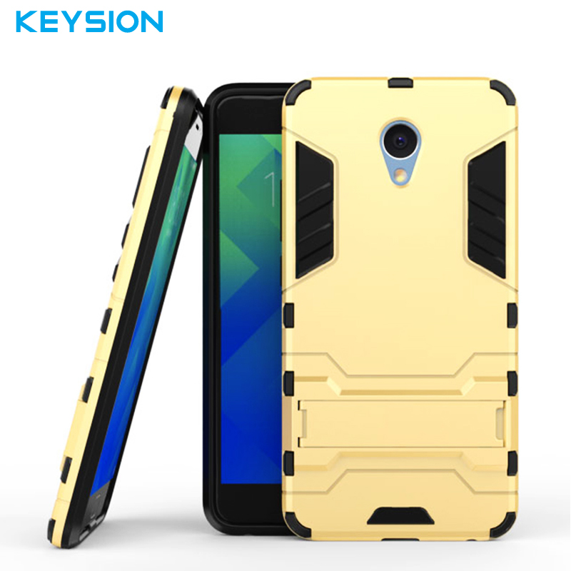 Keysion Case Meizu M5 Note Cover Luxury Silicon Plastic 2 1 Back Armor Mobile Phone Bags Meizu Meilan Note 5 Stent
