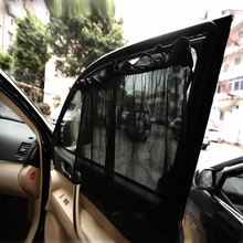 Buy 2Pcs/set New Black Mesh Fabric Car Auto DSB83 Window Curtain Sunshade Set UV Protection Side Window Curtain size 40*70cm for $3.72 in AliExpress store