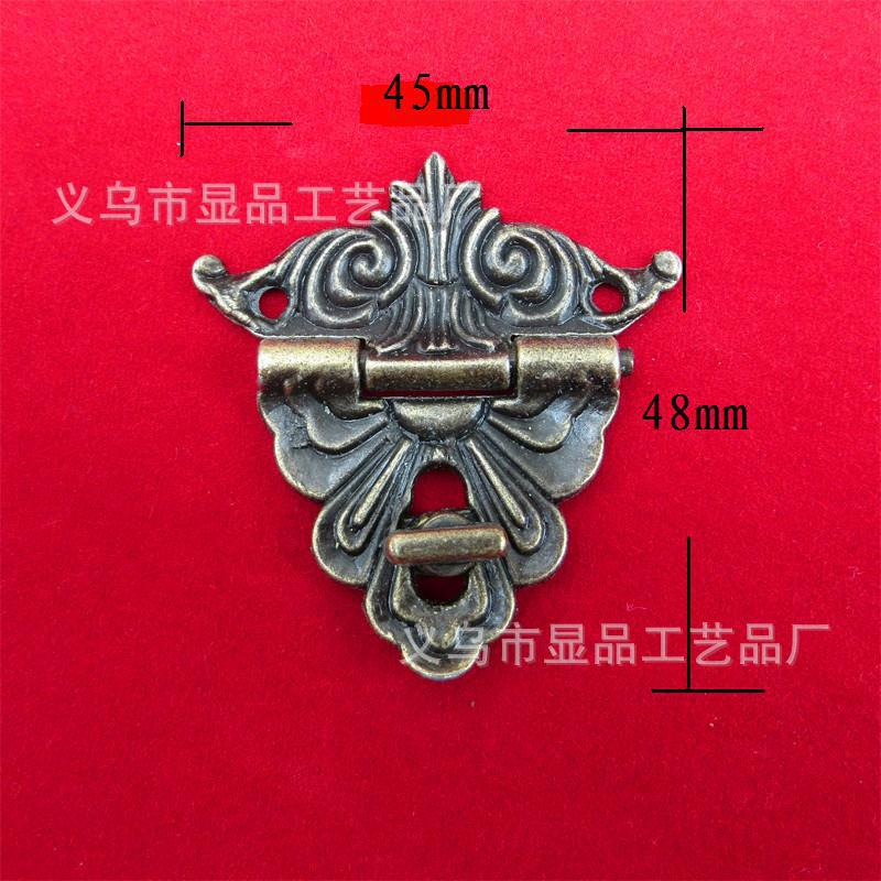 Lock alloy buckle factory direct antique wooden box gift box clasp buckle buckle hinge M097