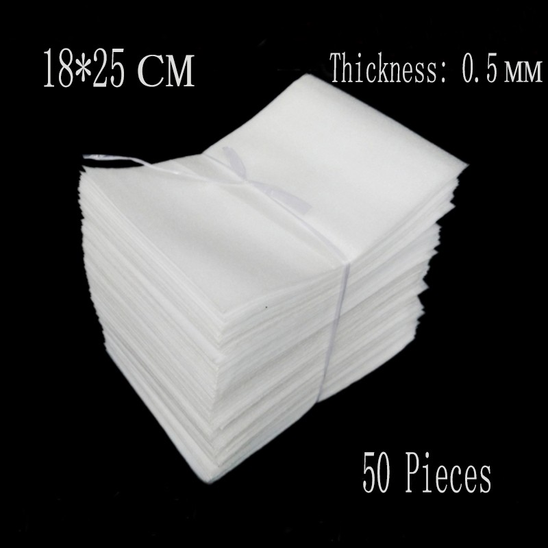 18*25cm 50Pcs 0.5mm White EPE Foam Bags Epee Foam Packing Material Eva Foam Board Insulation Packing Wrap Verpakking Espuma(China (Mainland))