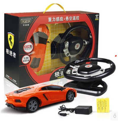 Child electric toy car remote control toy car little boy steering wheel induction charge remote control car(China (Mainland))