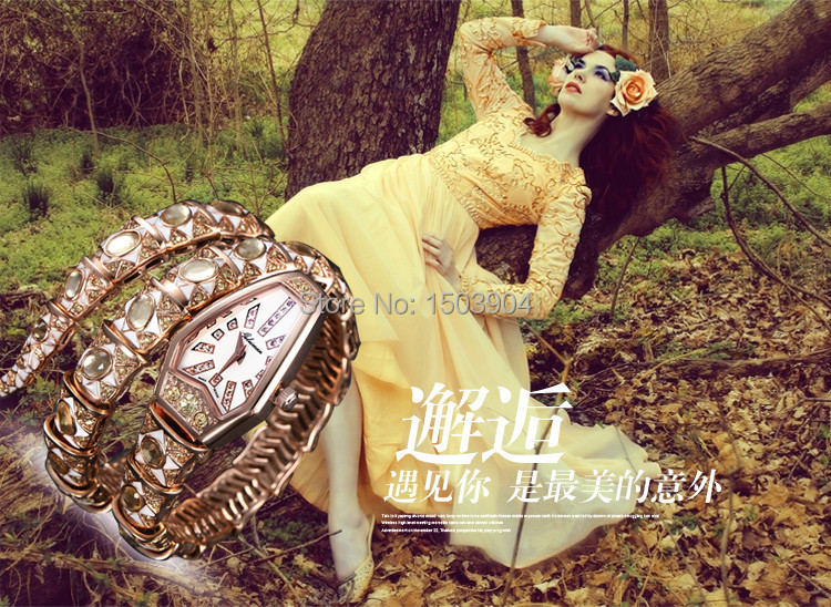 The shining golden snake Damen, genuine diamond fashion bracelet, waterproof, free postage<br><br>Aliexpress