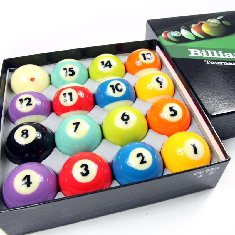 Cuppa Billiard Balls Set 57mm Size 16 Colors For Nomal Pool Black 8 High Quality Billiards Accessories(China (Mainland))