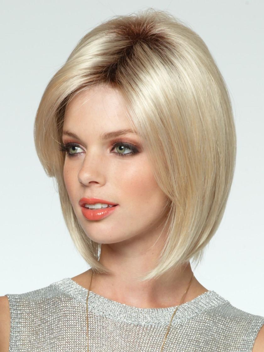 прически средней длины для блондинок фото