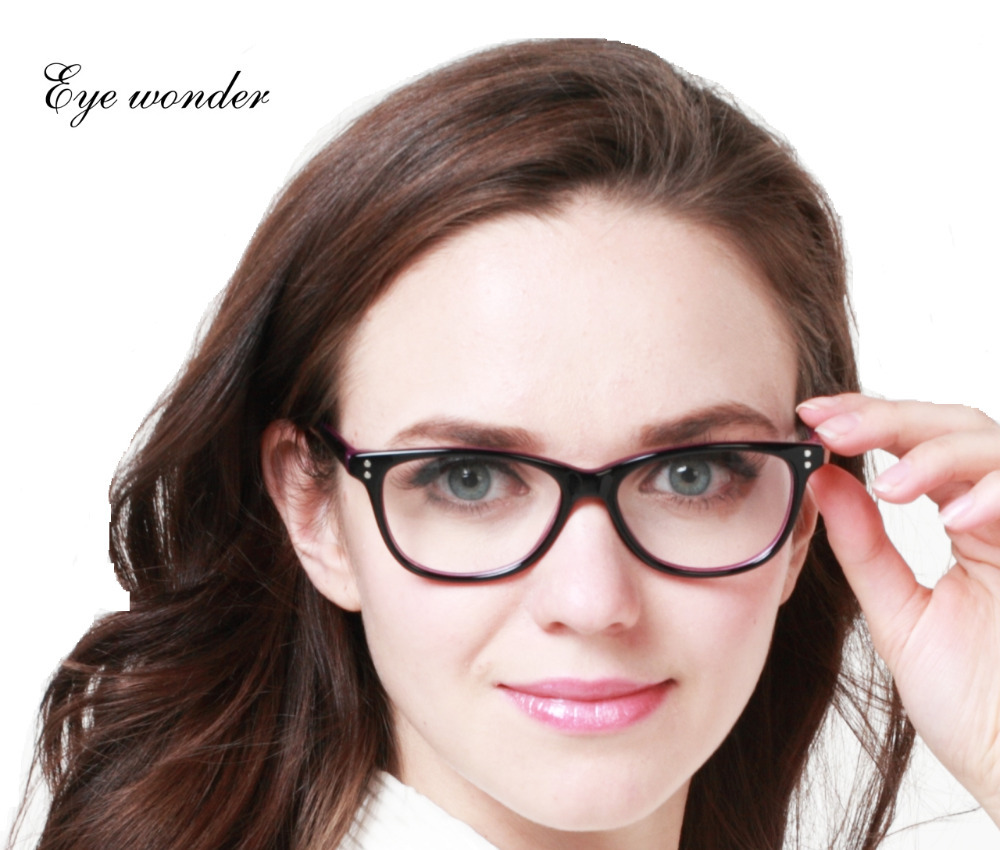Eye wonder Lady Vintage Glasses Frame Women Designer Optical Frame Acetate Spectacle Oculos de grau Lunettes Eyewear accessories(China (Mainland))