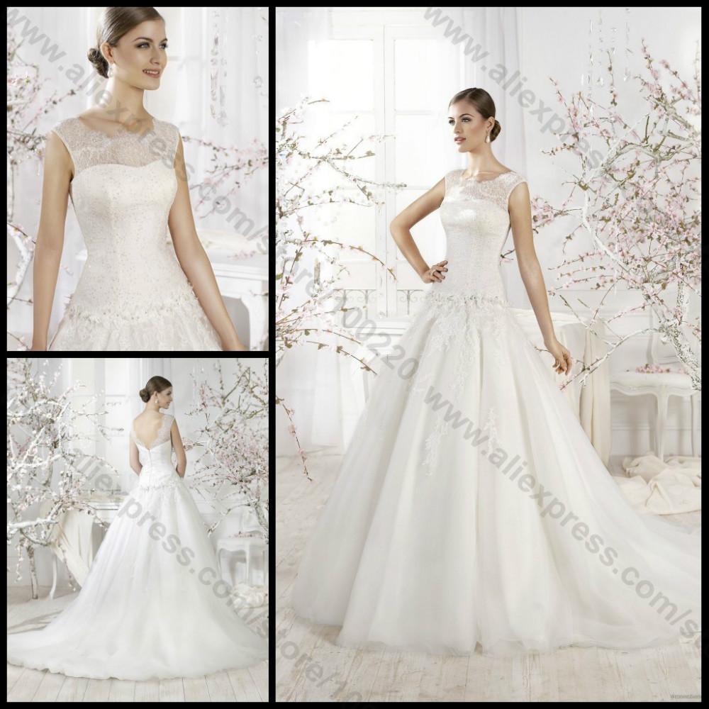 buy aimili a line lace wedding dress 2014
