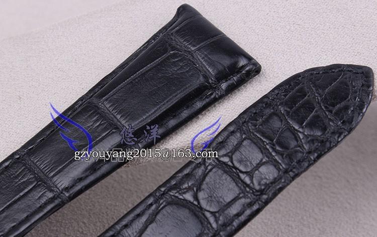 Реальным ремешок из кожи крокодила кожа используется карта либо W7100037 22 | 25 мм мужской