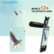 Buy Universal Clip 12X Telephoto Lens Mobile Phone Optical Zoom Telescope Camera iPhone Sumgung HTC Phone Lenses cell celular for $9.10 in AliExpress store