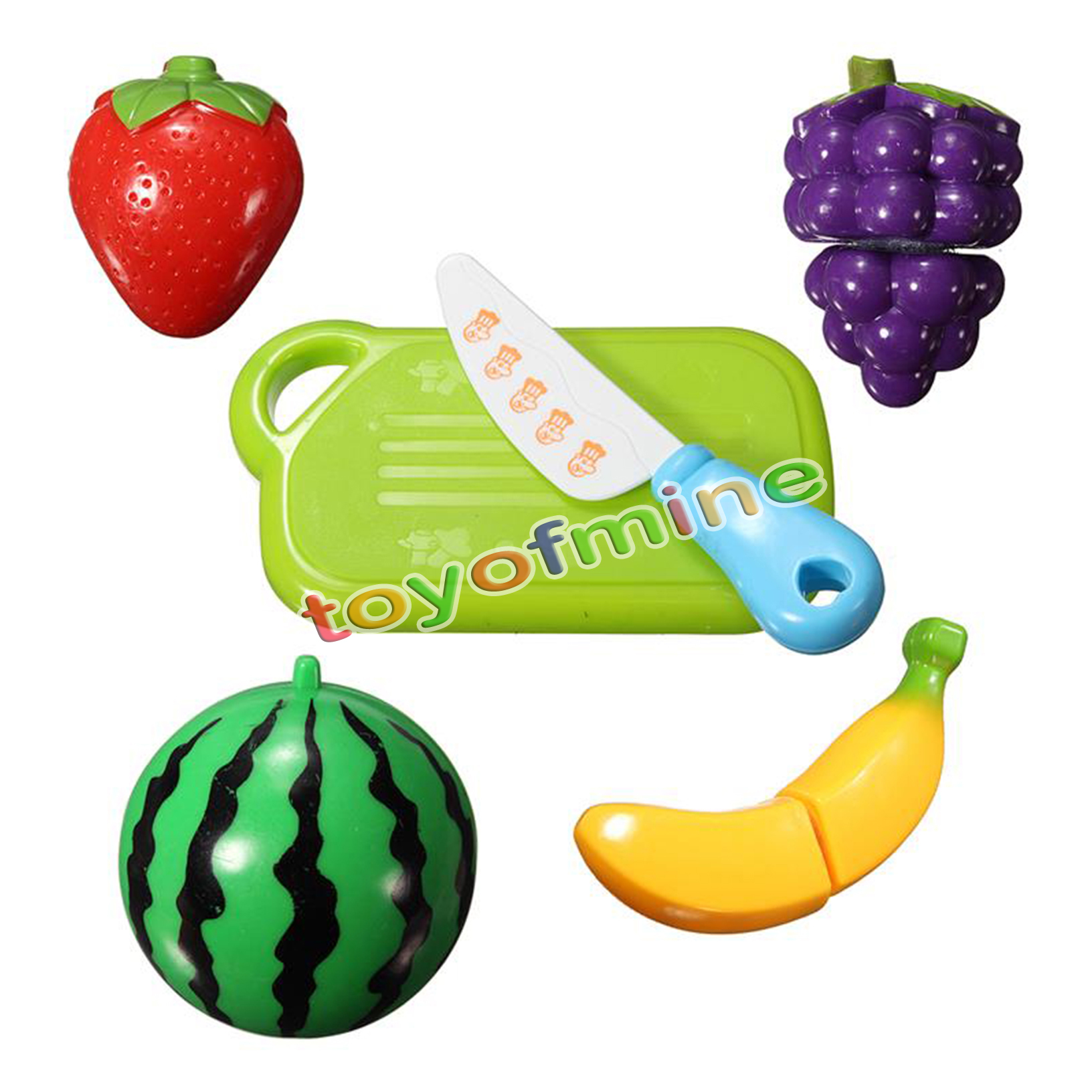 New 6PCS Cut Plastic Fruit Vegetables Kitchen Baby Classic Kids Toys Children Play House Toy Kitchen Playset Educational Toys(China (Mainland))