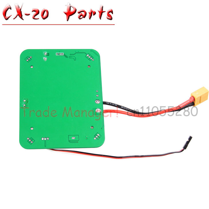 Free Shipping Cheerson CX-20 RC Quadcopter Parts Power board PCB box Prop for CX-20 rc Helicopters from Manufacturer(China (Mainland))