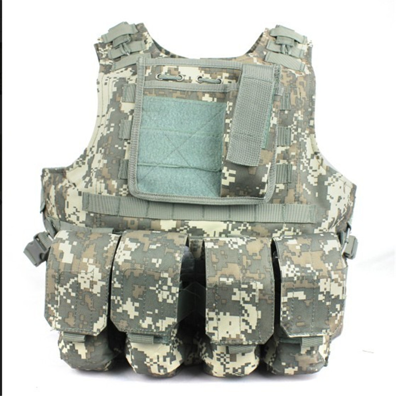 Combat Molle Amphibians design military Tactical vest ACU Color WIRE-STEEL-IN - Paintball & Airsof Equipment store