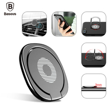 Buy Baseus Universal Mobile Phone Stand 360 Finger Ring Desk Holder Stand Fit Magnetic Car Bracket Luxury Phone Holder Stand for $2.23 in AliExpress store