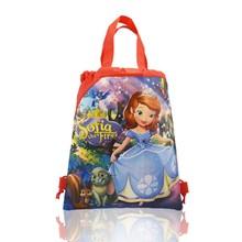 1PCS Children Cartoon Drawstring Backpacks School Shopping Bags 34*27CM Non Woven Fabrics Kids Birthday Party Gift(China)