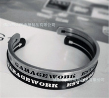 Lust LTD original Vintage Design Gothic CC Bangle Men Letter cuff Bracelet power wristband top quality Bangle(China (Mainland))