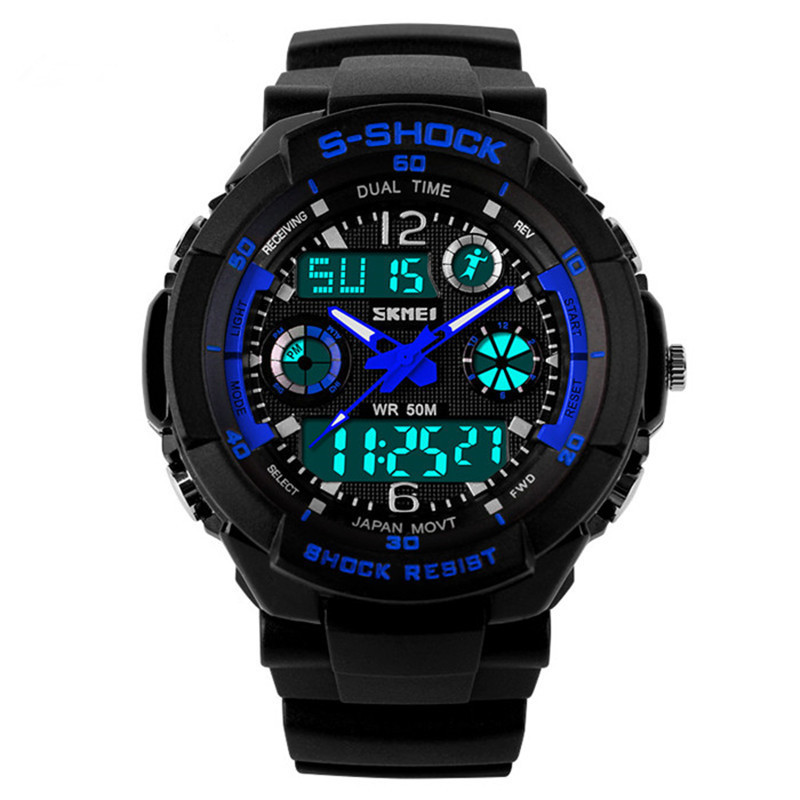 Reloj Hombre Sports Watches Men Led Digit Watch Clocks LED Dive Military Wristwatches Relogio Masculino New 2015 Skmei Hot Sell(China (Mainland))