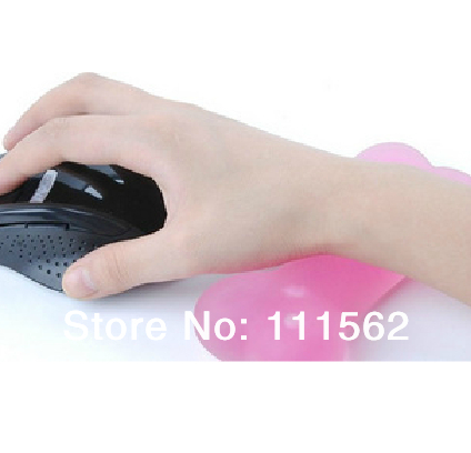 Free Shipping Cartoon mouse hand pad Transparent dog bones wrist support pad crystal wrist support mouse pad(China (Mainland))