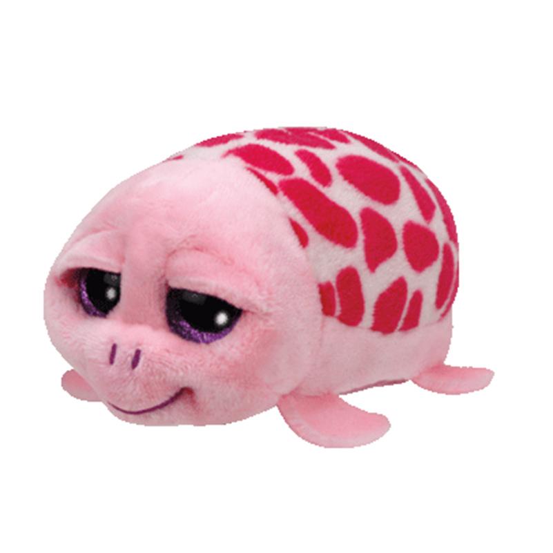 2016 New Tsum Ty Original Teeny Tys Pink Turtle Plush Toy 10cm Cruiser Stuffed Animal Doll Cute Birthday gift Kids Toy(China (Mainland))